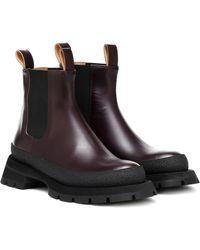Jil Sander Leather Chelsea Boots - Multicolour