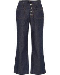A.P.C. High-rise Kick-flare Jeans - Blue