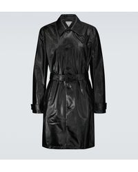 Bottega Veneta Trench-coat en sergé de coton - Noir