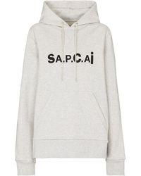 A.P.C. X sacai Hoodie Taiyo aus Baumwolle - Grau