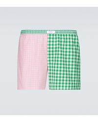 ERL Wide Striped Boxer Shorts - Green