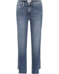 FRAME Jeans de pierna recta Le Nouveau - Azul