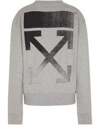 Off-White c/o Virgil Abloh Sweatshirt Arrows aus Baumwolle - Grau