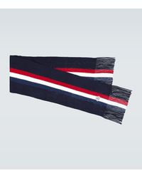Moncler Wool Ribbed Scarf - Blue