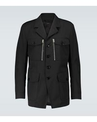 Tom Ford Technical Canvas Jacket - Black