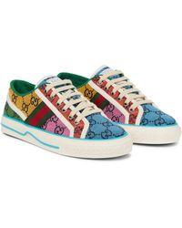 Gucci Sneakers Tennis 1977 GG Multicolor - Blau