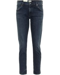 Citizens of Humanity Mid-Rise Cropped Jeans Elsa - Blau