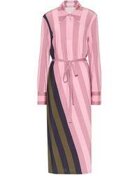 JW Anderson Hemdblusenkleid aus Jersey - Pink