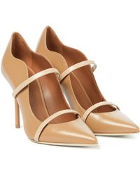 Malone Souliers Maureen 100 Leather Mules - Natural