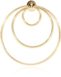 Delfina Delettrez Twin 18kt Gold Triple Hoop Earring - Metallic