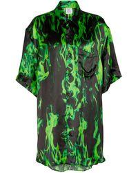 Vetements Printed Satin Shirt - Green