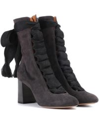 Chloé Harper Suede Boots - Black
