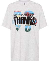 Vetements Printed Cotton T-shirt - Gray