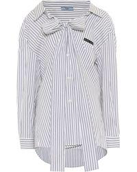 Prada Hemd aus einem Baumwollgemisch - Blau