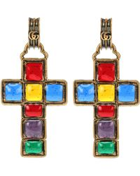 Gucci - Cross Pendant Earrings - Lyst