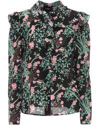 Giambattista Valli Floral Silk Crêpe De Chine Blouse - Black