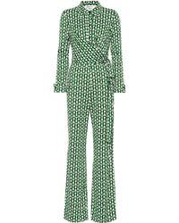 Diane von Furstenberg Mono Michelle de punto fino de seda - Multicolor