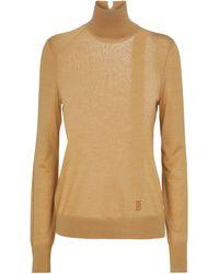 Burberry Turtleneck Sweater - Brown