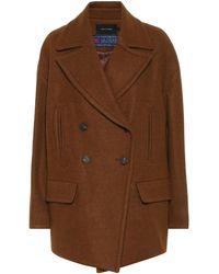 Low Classic Wool-blend Coat - Brown