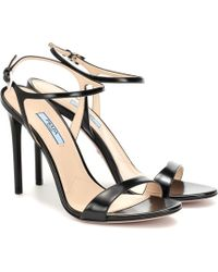 Prada Leather Sandals - Black