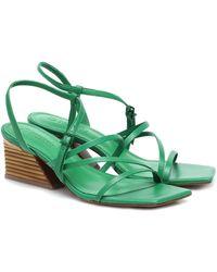 MERCEDES CASTILLO Kelise Leather Sandals - Green