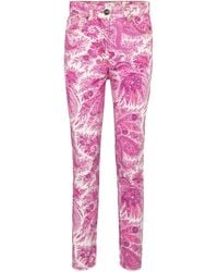 Etro High-Rise Skinny Jeans - Pink