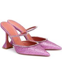 AMINA MUADDI Verzierte Mules Gilda mit Glitter - Mehrfarbig