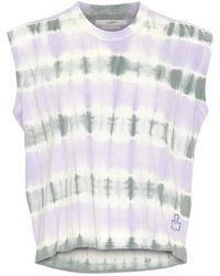 Étoile Isabel Marant Dena Tie-dye Cotton Crop Top - Purple