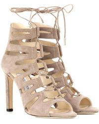 Jimmy Choo - Hitch 100 Suede Sandals - Lyst