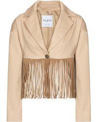 Alaïa Edition 1988 Fringed Cotton Blazer - Multicolor