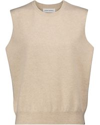 Extreme Cashmere N°156 Be Now Cashmere-blend Sweater Vest - Natural