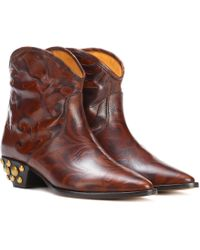 Isabel Marant - Dawina Leather Ankle Boots - Lyst