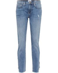 FRAME - Mid-Rise Jeans Le Boy - Lyst