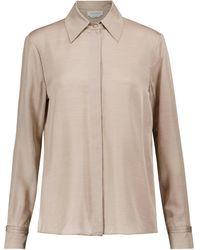 Gabriela Hearst Jaq Silk And Cashmere Shirt - Natural