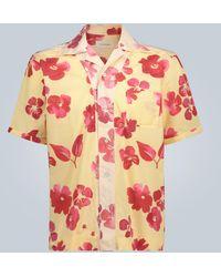 Wales Bonner Chemise à imprimé fleuri oversize - Multicolore