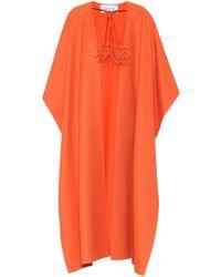 Valentino Cape en laine vierge - Orange