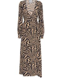 Ganni Printed Midi Dress - Multicolor