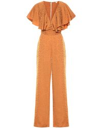 Johanna Ortiz Poetry In Motion Jacquard Jumpsuit - Brown