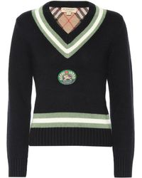 Burberry - Appliquéd Wool And Cashmere Sweater - Lyst