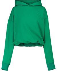 The Attico Hoodie Maeve aus einem Baumwollgemisch - Grün
