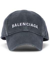 Balenciaga Casquette en coton à logo - Gris