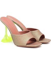 AMINA MUADDI Exclusive To Mytheresa – Lupita Glitter Sandals - Metallic
