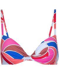 Emilio Pucci Quirimbas Print Bikini Top - Pink