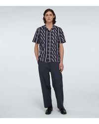 Valentino Pantalon en tissu technique - Bleu