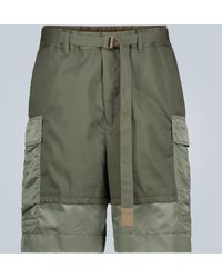Sacai Cargo-Shorts mit Gürtel - Mehrfarbig