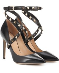 Valentino - Garavani Studwrap Leather Pumps - Lyst