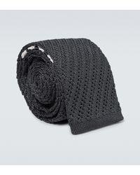 Thom Browne Silk Tie - Black