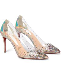 Christian Louboutin Degrastrass 85 Embellished Pvc Court Shoes - Multicolour