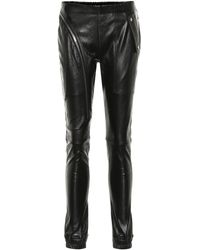 Rick Owens Mid-rise Skinny Leather Trousers - Black