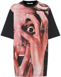 Christopher Kane - T-shirt in cotone a stampa - Lyst